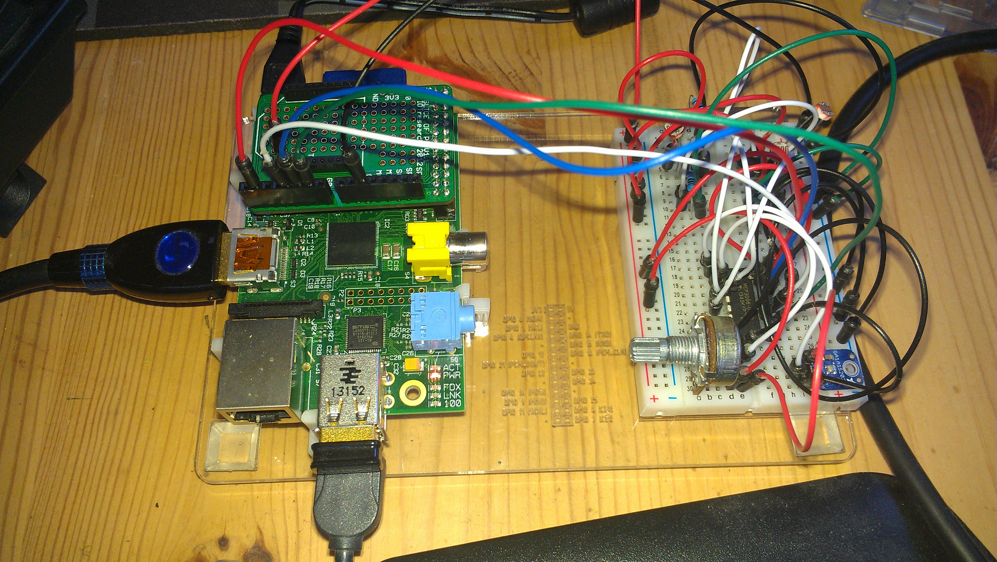 Connect and read an Analog to Digital Converter